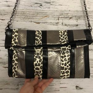 ALDO vegan fold over clutch with removable chain